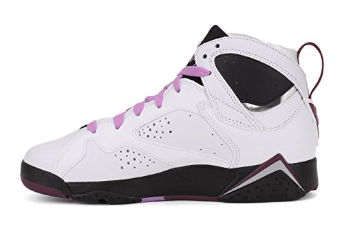 Nike Air Jordan 7 Retro Gg, Scarpe da Corsa Bambina Bianco / rosa / nero / rosso (bianco / fucsia Glow-BLK-Mlbrry)