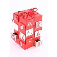 Holz Red & White Parcel Adventskalender festliche traditi...