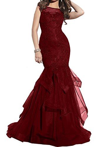 Toscane à une femme mariée épaule abendkleider cocktail tanzkleider forme courte en satin rouge bordeaux