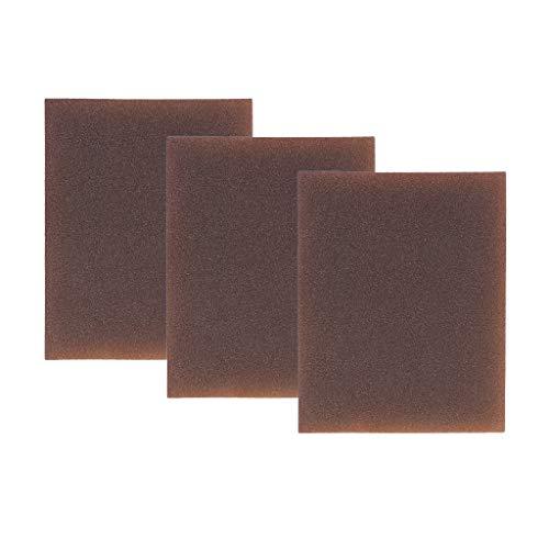 IPOTCH 3X Bloques de Esponja de Lijado con Almohadillas Abrasivas de Doble Caras para Pintura Puldio DIY Artesanía - Extra Fino 400-600 Grit