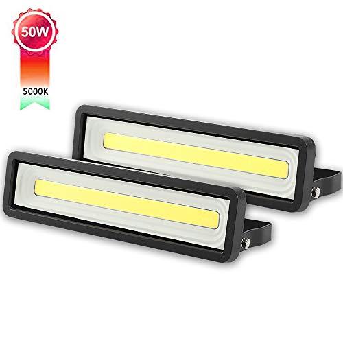 Lote de 2 Focos LED exteriores 50W 4000LM, Potente LED para exteriores...