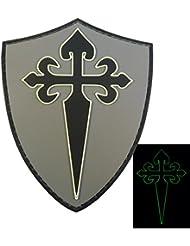 Glow Dark St. James Cross Cruz Santiago Templar Crusaders Morale PVC 3D Velcro Patch