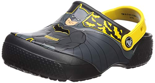 crocs Unisex-Kinder Crocsfl Iconic Batman K Clogs, Schwarz (Black 001), 20/21 EU