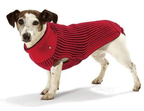 Artikelbild: Karlie Hundepullover, 29 cm, rot/schwarz