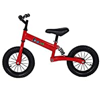 Bespivet Balance Bike with suspension for 2-13 Years Old,No Pedal Bike Walking Training Bike with Adjustable Handlebar and Seat (Red for 2-10 years old)