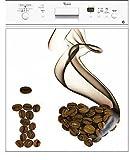 Electromenager Beste Deals - Stickersnews - Sticker lave vaisselle électroménager déco cuisine I Love Café 60x60cm réf 183