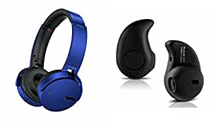 MIRZA Extra Extra Bass XB450 Headphones & Kaju Headset for ASUS ZENFONE GO 4.5(Extra Extra Bass XB450 Headphones,With MIC,Extra Bass,Headset,Sports Headset,Wired Headset & Kaju Headset)