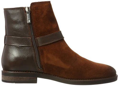Bottillon À Talon Plat Marc Opolo 70814226001311, Bottines À Lacets Pour Femme Braun (brandy)