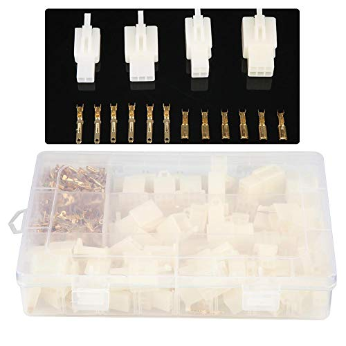 380Pcs Drahtverbinder 2 3 4 6 Pin-Sortiment, Auto Wire Terminal Connector Tool 2,8mm, für Auto, Motorrad, Dreirad, ATV, Roller, Schneemobil, Boot -