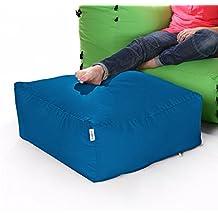 Sofá Modular De Esquina Bolsas De Frijoles - Puf Única-Verde Azulado