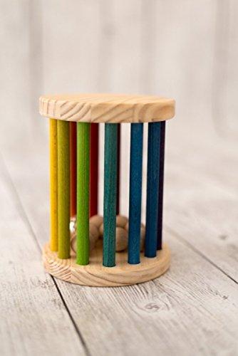 Rodari de Madera Arcoiris Grande 14x15 cm juguete Montessori para el bebé