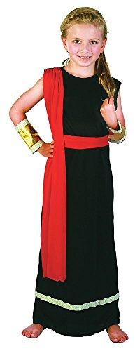 (Bristol Novelty CC204 Römisches Mädchen Kostüm, Rot, Klein)