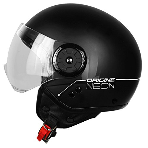 Origine Helmets 201585010100104 Neon Street Casco Demi Jet, Nero, M
