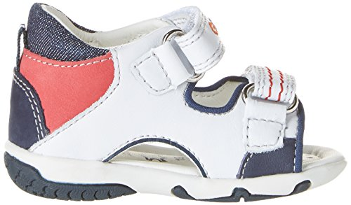 Geox B Elba C, Chaussures Marche Bébé Garçon Blanc (C0899)
