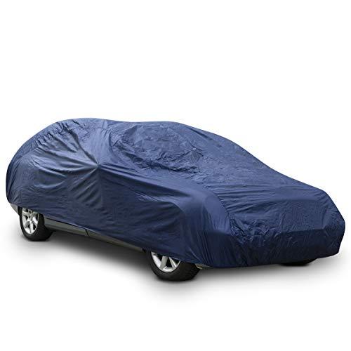 Navaris Telo Copriauto Universale Garage M - Cover Auto 432x165x120cm Impermeabile Antigelo e Antipioggia - Copertura Macchina per Esterno Interno