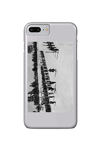 land-o-lakes-wisconsin-skiers-on-parade-near-kings-gateway-hotel-iphone-7-plus-cell-phone-case-slim-
