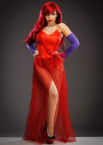 Magic Box Traje de Bomba roja Estilo Jessica Rabbit para Mujer Small (UK 8-10)