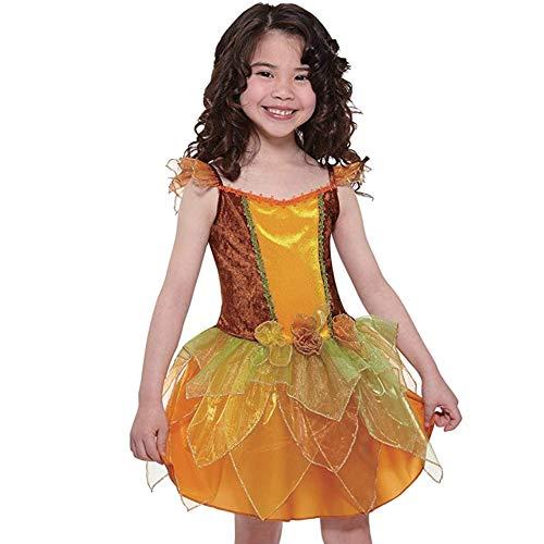 Totaly Ghoul Orange Fary Fee Mädchen Fasching Halloween Karneval Kostüm Tutu Kleid 92/98 (92/98)