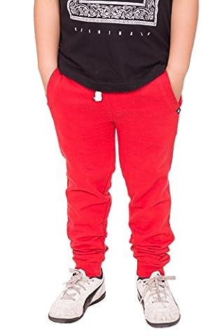 Fleece Trouser Pantalon Bas Jogging pour Garçons (Rouge, 13 ans)