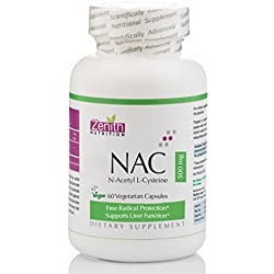Zenith Nutrition NAC ( N-Acetyl L-Cysteine ) Liver & Antioxidant support, 500mg – 60 veg capsules