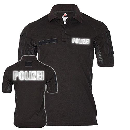 Copytec Tactical Polo Polizei Reflektierend Streife Komissar Uniform Behörde #22269, Größe:L, Farbe:Schwarz (Us Air Force Uniform Army)