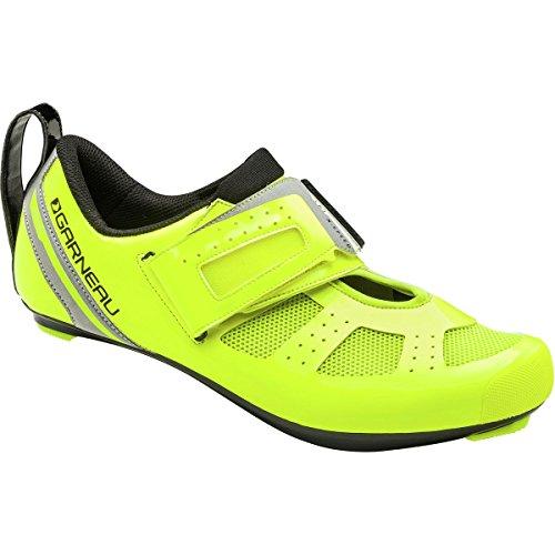 low priced 09743 5380f Louis Garneau Mens Tri X-Speed 3 Triathlon Bike Shoes, Bright Yellow, US