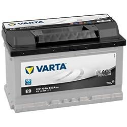 Type 067 Varta Black Dynamic Batterie de Voiture 12V 70Ah (Short Code: E9) (Varta DIN: 570 144 064)