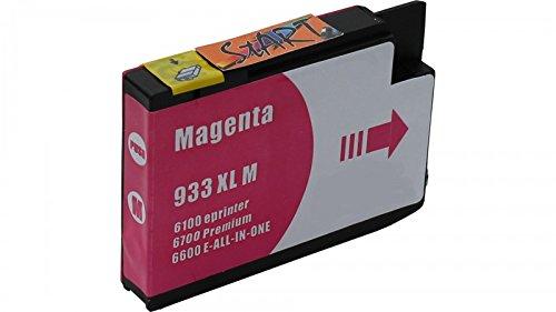 Preisvergleich Produktbild Start - XL Ersatz Chip Druckerpatrone kompatibel zu HP 933XL Magenta für Hewlett Packard OfficeJet 6100 e-Printer, 6600 e-All-in-One, 6700 Premium, 7110 wide format