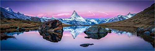 Bis 3 Meter Breite! XXLPanorama Acrylglasbild, Schweiz Alpen Stellisee am Matterhorn, Fineart Bild hochwertiges Wandbild, echter Fotoabzug Galerie Qualität Acrylglas auf Alu. Dibond©