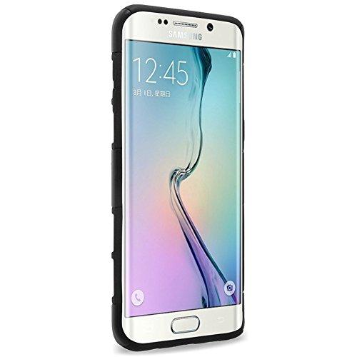 Samsung Galaxy S6Edge Plus Coque, meaci (TM) Étui pour téléphone pour Samsung Galaxy S6Edge Plus Combo hybride 3en 1Defender ArmorBox Coque rigide pour PC Coque souple en silicone av