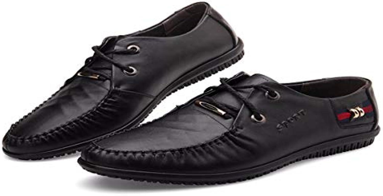 KMJBS Calzado de Hombre/Zapatos De Hombre De Cuero Zapatos De Cuero Tie Brown Treinta Y Siete  -