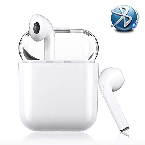 Auriculares Bluetooth, Auriculares Inalámbricos Bluetooth Mini Twins Estéreo In-Ear Bluetooth 4.2 con Caja de Carga Portátil Y Micrófono Integrado para iOS y Android