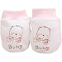 Zhouba 2 paia cute Cartoon Baby Boys Girls anti scratch Mittens morbido per neonati guanti Gift