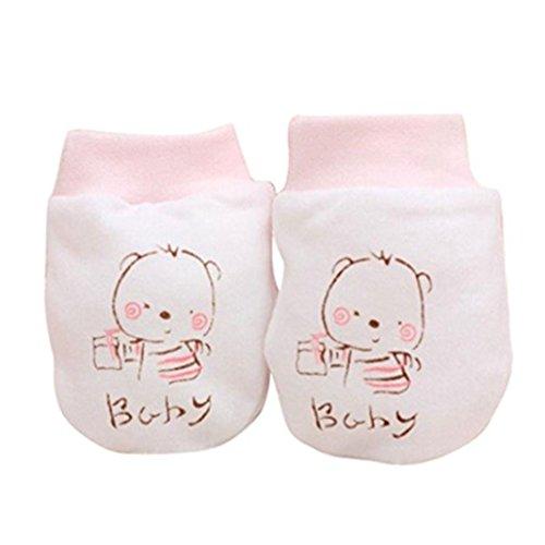 Zhouba 2 paires mignon Dessin animé bébé enfant Garçons Filles anti Scratch Moufles  Gants pour nouveau 223272f7d77