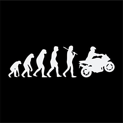 Folistick Motorrad Evolution Aufkleber Bike Evolution Sticker OEM Decal Motorradaufkleber (WEISSMATT)