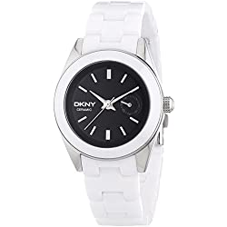 DKNY NY2142 Ladies Jitney Black White Watch