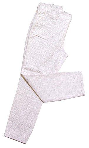 NEW nydj Blanc et Rose Pâle et gris cheville Jean m77z1085 Multicore