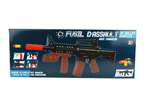 KOSxBO® Set Kinder Elite Gewehr inklusive Munition für unseren kleinen SEK Polizisten - Soldaten - Spezialagent - KostümSchnellfeuerkarabiner