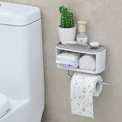 Blusea ecoco Toilettenpapier Badezimmer Feuchttücher Hygiene Wandhalterung Toilettenpapierhalter WC Badaccessoires Rollenhalter Klopapier Toilettenpapierspender -