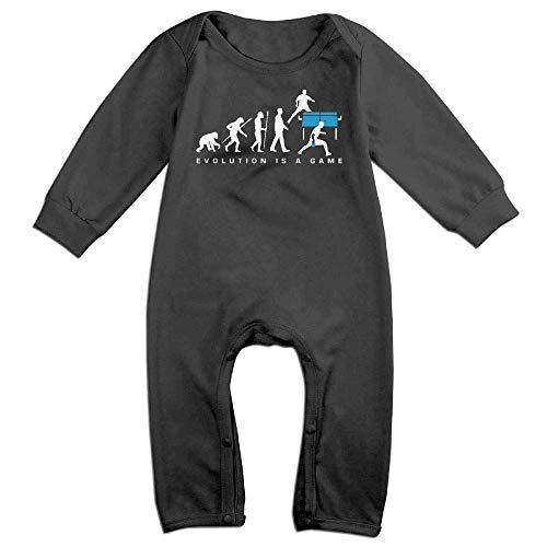 (Evolution is A Table Tennis Game Long Sleeve Baby Bodysuit Bodysuit)