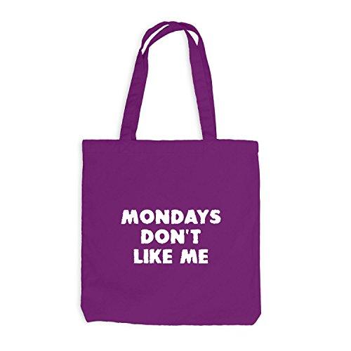 Jutebeutel - Mondays Don't Like Me - Scary - Work Job Magenta