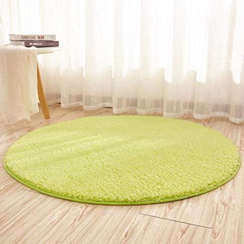 CARPET Haushalt Teppich Hängenden Korb Rattan Stuhl Matten Computer Stuhl Hause Runden Teppich Anti-Skid (Farbe : Green, größe : 100cm)