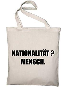 Nationalität Mensch Gegen Rassismus Jutebeutel, Beutel, Stoffbeutel, Baumwolltasche