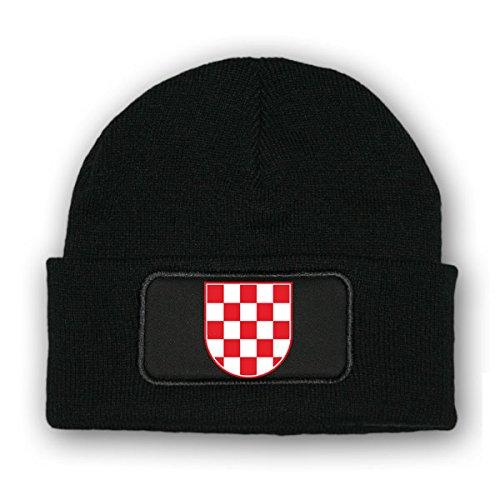 * Mütze / Beenie -Mütze Kroatien_ Wappen Fahne Kroatien Balkan Korkade Flagge...