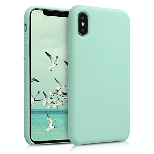 kwmobile Apple iPhone XS Hülle - Handyhülle für Apple iPhone XS - Handy Case in Mintgrün matt