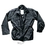 by MMB - M65 Feldjacke Schwarz, Parka US Style Jacke mit Futter Größe XXL