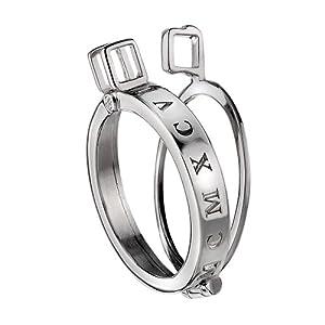 Emozioni Damen-Münzfassung925 Diamant 0.01 ct Weiß Rundschliff 3.3 cm – DP444