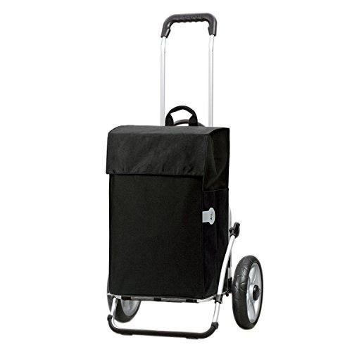 Original Andersen Royal Shopper mit Einkaufstasche Hera schwarz | kugelgelagertes Rad | Einkaufstrolley Gestell Aluminium