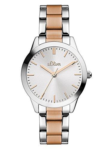 s.Oliver Damen-Armbanduhr SO-3439-MQ (Bandbreite S/s)