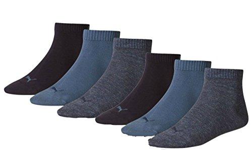 6 Paar PUMA Sneakersocken, Sportlifestyle im Vorteilspack + sehr schneller Versand durch Amazon (39/42, Denim Blue (460))